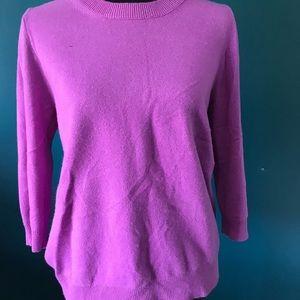 J Crew Italian Cashmere sweater. 3/4 sleeve NWOT